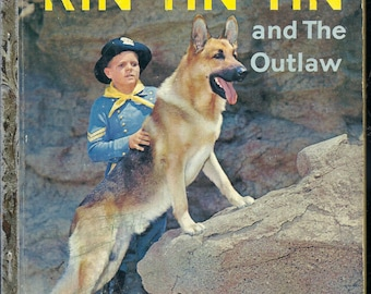 VINTAGE! 1950's Little Golden Book~Rin Tin Tin and Outlaw 1st Ed.