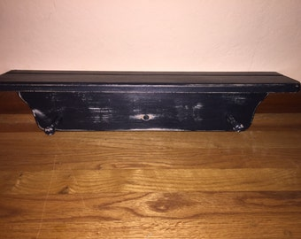 Black Shabby Chic Shelf