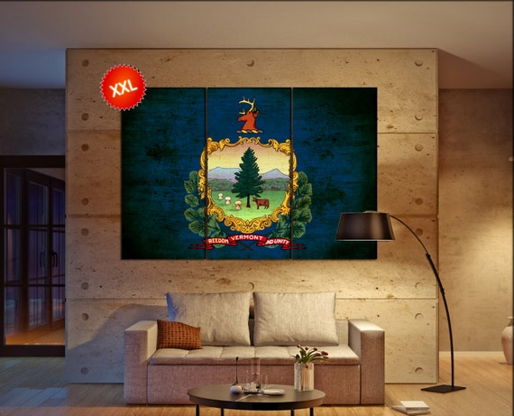 vermont state flag  canvas vermont state flag wall decoration vermont state flag canvas art vermont state flag large canvas
