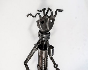 Miss Walker - MW1 - Bicycle parts upcycled walking figure