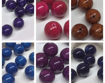 8mm Riverstone Rounds, UPick color Riverstone Beads, colorful gemstones, 50 Rivestone Beads,gemstone bead supplies,jewelry supplies,