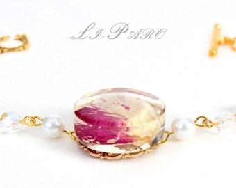 Rose petal bracelets