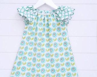 Girl's Floral Flutter Dress
