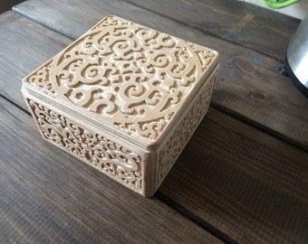 tea box, wooden box, wooden casket