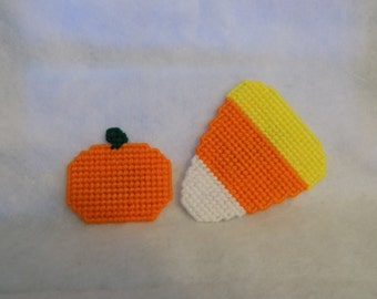 small pumpkin and lg candy corn