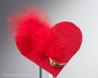 Valentine's Day, Fascinator, Red, Heart