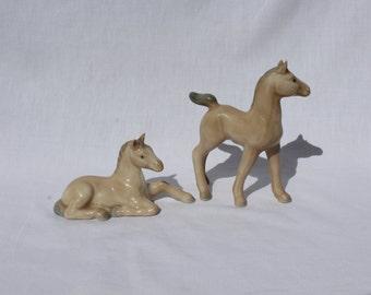 Cute/Collectible Miniature Porcelain Otagiri Japan Horses-Figurines