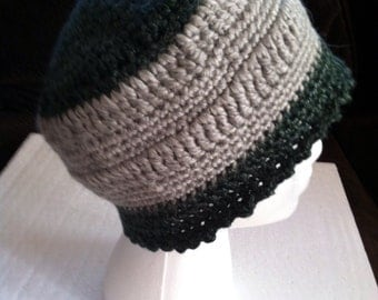 20s cloche hat with grey wide band