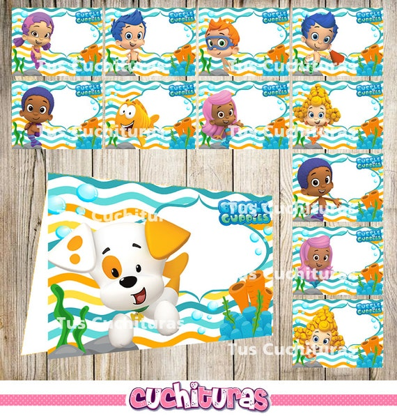 24 Bubble Guppies Food Tent Cards instant download Printable Bubble Guppies Labels Bubble Guppies Party Table Label from TusCuchituras on Etsy Studio  sc 1 st  Etsy Studio & 24 Bubble Guppies Food Tent Cards instant download Printable ...