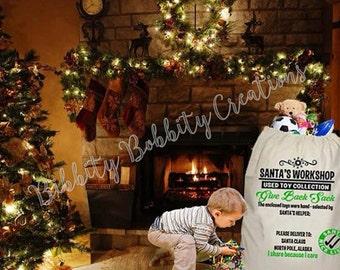 Give Back Santa Sack, Donation Sack, Personalized Give Back Sack, Christmas Give Back Sack, Christmas Donation Sack
