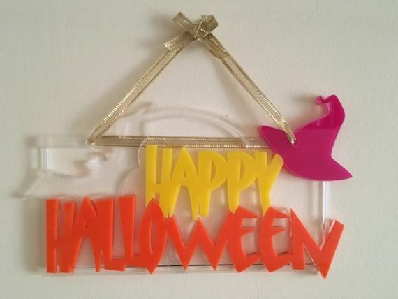 Happy Halloween door sign Spooky door sign Halloween decoration Wall hanging sign Halloween holiday sign Halloween ornament Halloween gift