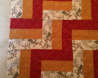17 inch Split-Rail-Fence QUILT BLOCK.