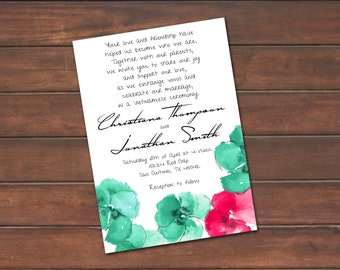 Wedding Invitation with Response Card