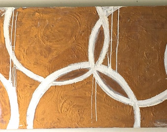 "07  SOLD  Goldringer 30"" x 48"" Abstract Art"