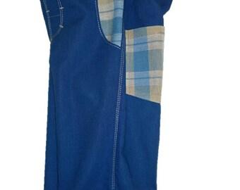 Boys shorts   Size 7-8,  boys long shorts, boys board shorts,  blue cotton shorts, boys longies