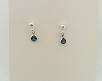 Little drops! Sterling silver with topaz. Handmade