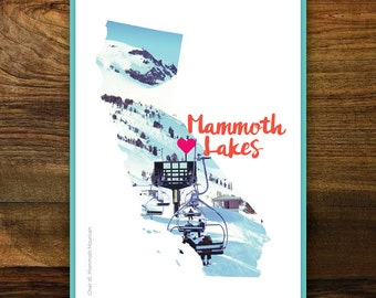 Mammoth Lakes Love Greeting Cards