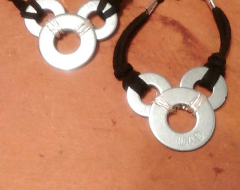 Mickey mouse style washer bracelet