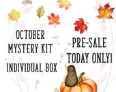 OCTOBER MYSTERY Box Monthly Box 250+ Stickers   Reg Price 25.00-27.00   October Box, Subscription Box, Autumn, Pumpkin, fall critters