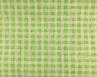 Green checkered fabric.