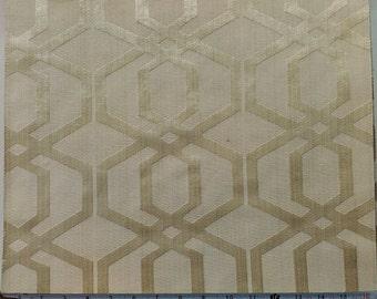Geometric Pattern Fabric in Gold