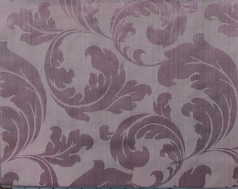 Large Floral Pattern Fabric in Lilac Purple Color