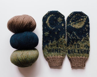 X-Files I Want To Believe Knit Mittens