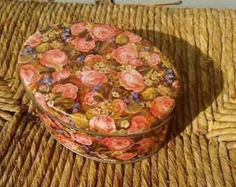 Italian Vintage Tin Box - Rose and Flowers