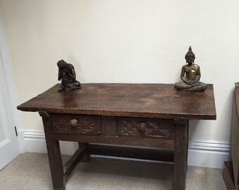 18th Century Spanish Oak Plank Top Table