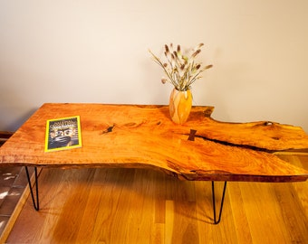 Natural Edge Cherry Coffee Table