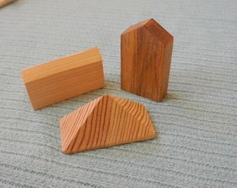 Wood houses blocks. Wooden blocks
