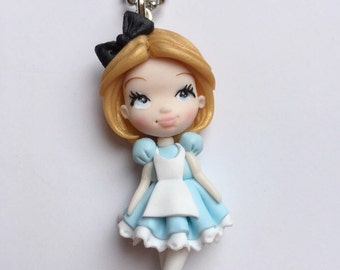 Handmade necklace Alice in Wonderland