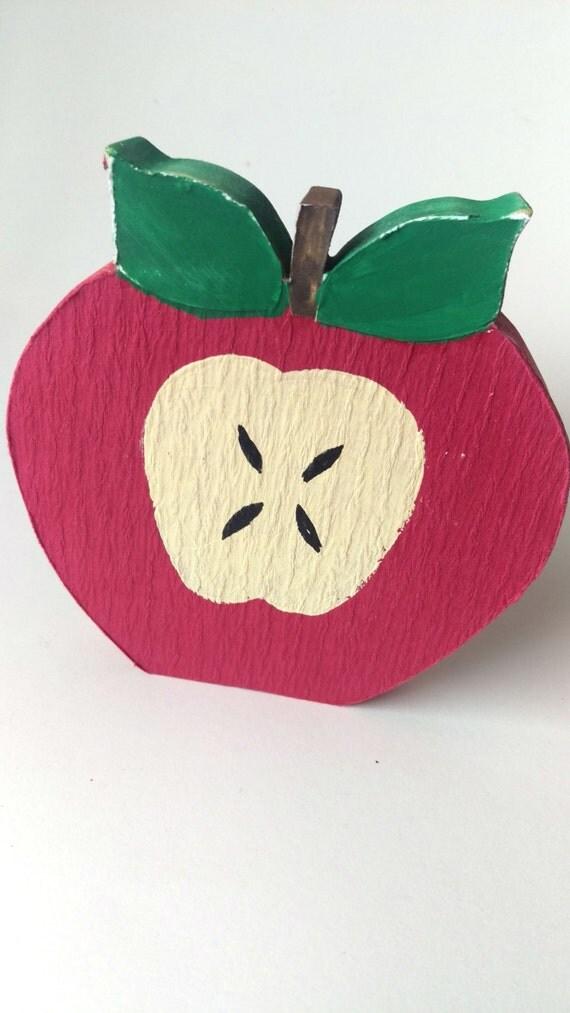 Rustikale Apple Dekoration Holz Obst-Dekor von GoodGollyMisterShop