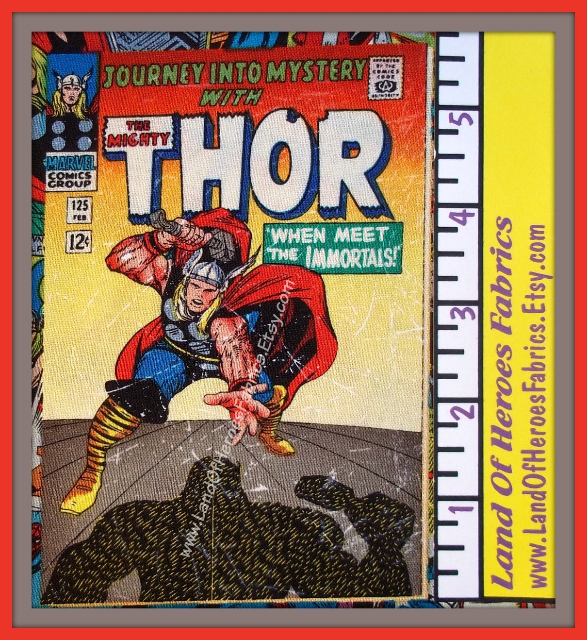 Yardage Book Cover Diy : Marvel comic book cover cotton fabric from springs