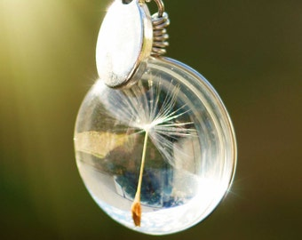 Genuine Dandelion Wish Pendant On 50cm Chain