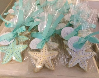 Tourquoise Starfish Sugar Cookies