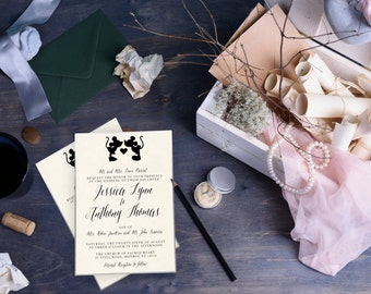 Disney Wedding Invitations / Suite / Invitation, RSVP Card, Accommodations