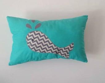 Cuddly Whale Cushion, Baby Nursery, Children's Bedroom Home Decor