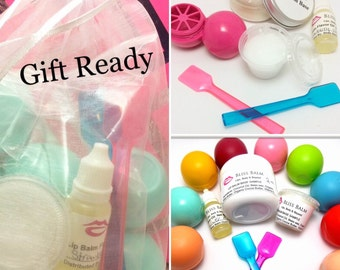 Kids Craft Kits, Lip Balm, Kids Crafts,Choose flavor 6 Oval containers