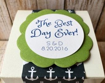 8 ~ Wedding Favor Boxes, Customized Wedding Favors, Personalized Wedding box, Wedding favors