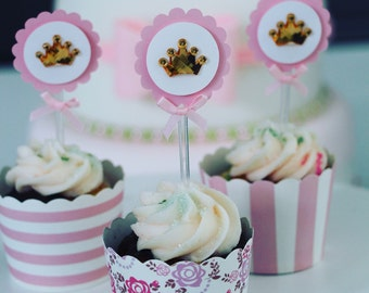 Princess Cupcake Topper | Rhinestone Collection