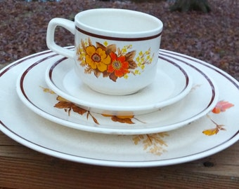 Fall Blossoms Temper-Ware by Lenox 4 Piece Set/Microwave Oven Safe  Freezer to Oven to Table to Dishwasher