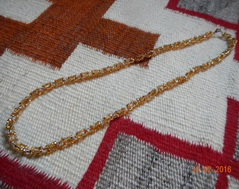 Sparkly Golden Glass Beaded Necklace