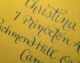 Envelope Calligraphy-- Weddings, Birthdays, Parties, Showers...