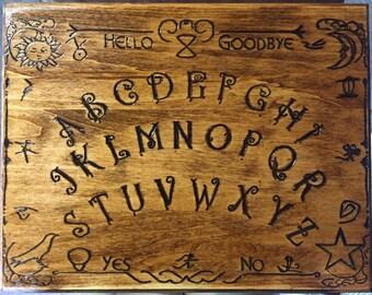 100% hand carved stained Ouija Board/ Spirit board/ talking board