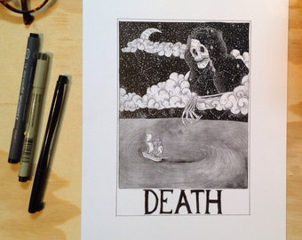 Death Tarot Card Print by lilchive