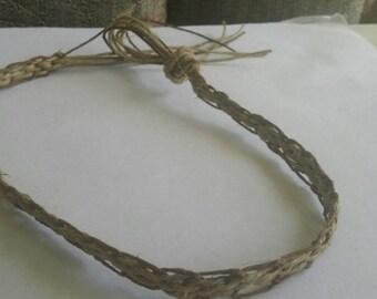 Handmade natural hemp choker