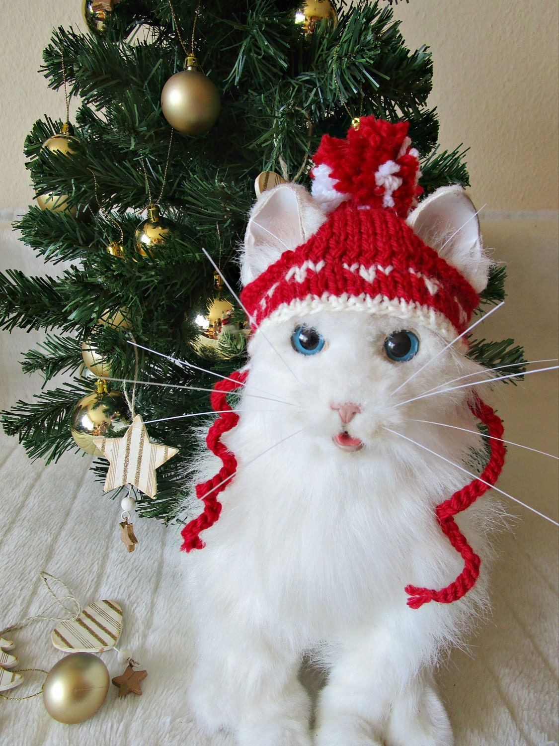 Cat in the hat ornaments - Pet Christmas Hat Cat Dog Christmas Hat Cat Santa Hat Dog Santa Hat Red Cat Dog