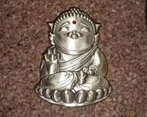 Cat Buddha 3D Hat Pin