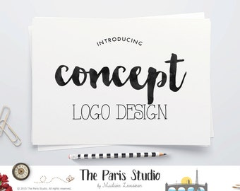 Custom Concept Logo Design Website Logo Blog Logo Boutique Branding Business Logo Boutique Logo Watercolor Vintage Logo Wedding Monogram
